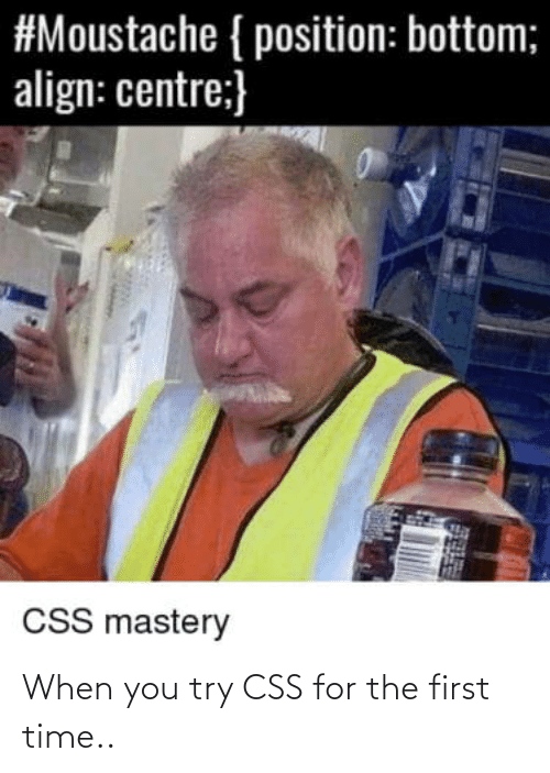 for the first time: When you try CSS for the first time..