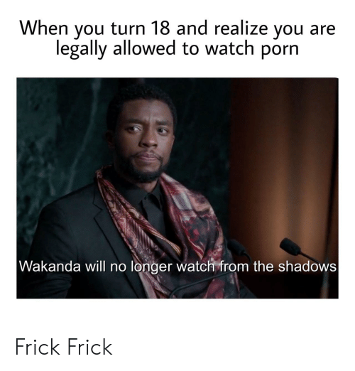Shadows: When you turn 18 and realize you  legally allowed to watch porn  Wakanda will no longer watch from the shadows Frick Frick