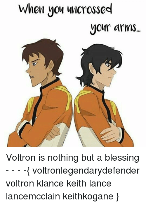 Voltron Klance: When you uncrossed  your arms. Voltron is nothing but a blessing - - - -{ voltronlegendarydefender voltron klance keith lance lancemcclain keithkogane }