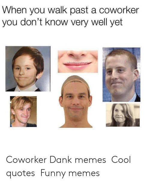 i smile: When you walk past a coworker  you don't know very well yet Coworker  Dank memes Cool quotes Funny memes