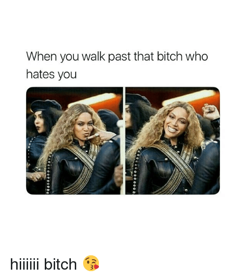 Bitch, Girl Memes, and Who: When you walk past that bitch who  hates you hiiiiii bitch 😘