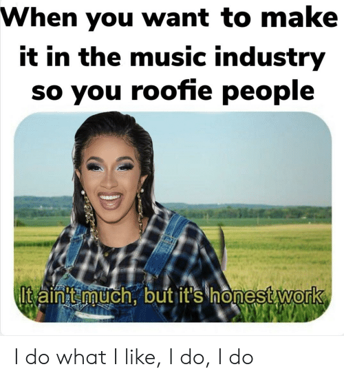 roofie: When you want to make  it in the music industry  so you roofie people  0 I do what I like, I do, I do