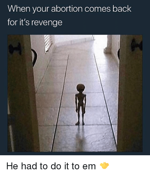 Revenge, Abortion, and Back: When your abortion comes back  for it's revenge He had to do it to em 🤝