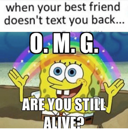 Best Friend, Friends, and Texting: when your best friend  doesn't text you back..  ARE YOU STILL  AL NEH