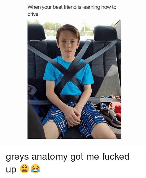 Girl Memes: When your best friend is learning how to  drive greys anatomy got me fucked up 😩😂