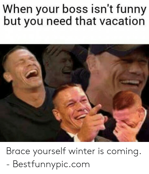 Bestfunnypic: When your boss isn't funny  but you need that vacation Brace yourself winter is coming. - Bestfunnypic.com