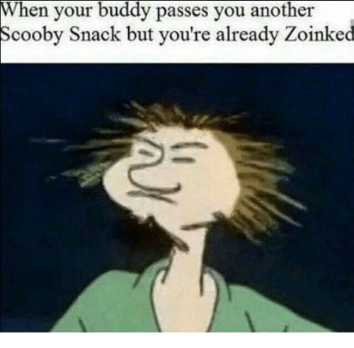Dank Memes, Another, and Scooby: When your buddy passes you another  Scooby Snack but you're already Zoinked