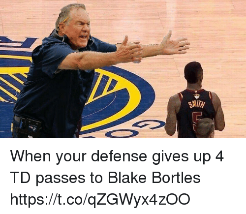 Memes, 🤖, and Blake: When your defense gives up 4 TD passes to Blake Bortles https://t.co/qZGWyx4zOO