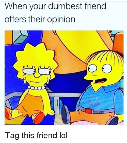 Funny, Lol, and Friend: When your dumbest friend  offers their opinion  Tale A Tag this friend lol