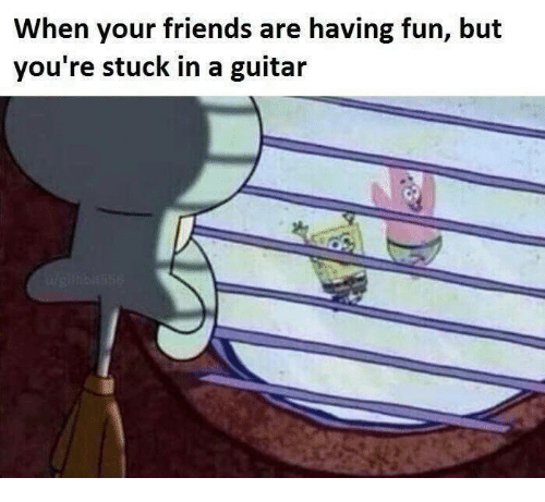 Friends, Guitar, and Fun: When your friends are having fun, but  you're stuck in a guitar