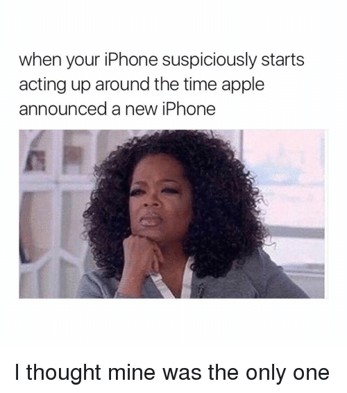 Apple, Iphone, and Ups: when your iPhone suspiciously starts  acting up around the time apple  announced a new iPhone I thought mine was the only one
