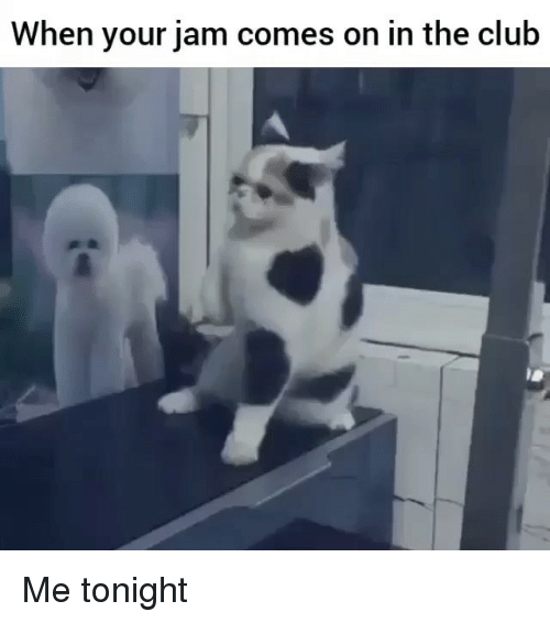 Club, Funny, and Jam: When your jam comes on in the club Me tonight
