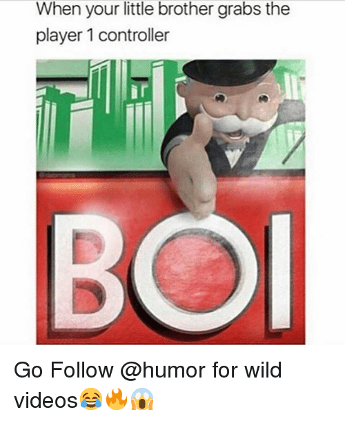 Funny, Videos, and Wild: When your little brother grabs the  player 1 controller Go Follow @humor for wild videos😂🔥😱