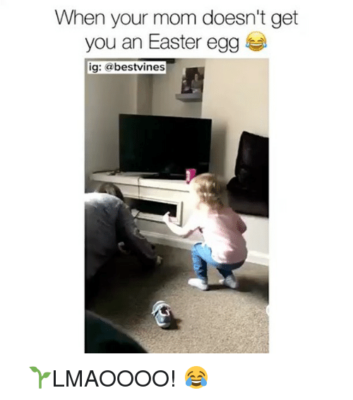 Easter, Memes, and Mom: When your mom doesn't get  you an Easter egg  ig: a  bestvines ⠀ 🌱LMAOOOO! 😂