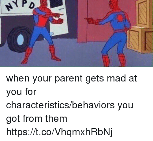 Girl Memes, Mad, and Got: when your parent gets mad at you for characteristics/behaviors you got from them https://t.co/VhqmxhRbNj
