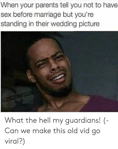 vid: When your parents tell you not to have  sex before marriage but you're  standing in their wedding picture What the hell my guardians! (- Can we make this old vid go viral?)