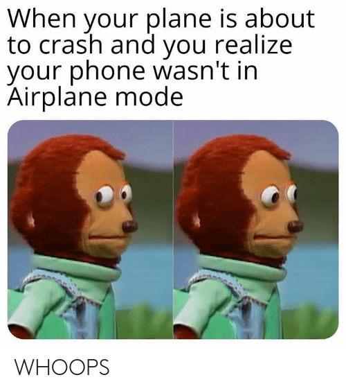 Dank, Phone, and Airplane: When your plane is about  to crash and you realize  your phone wasn't in  Airplane mode WHOOPS