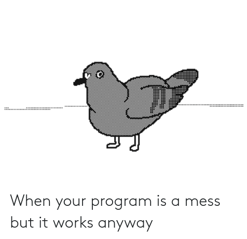anyway: When your program is a mess but it works anyway