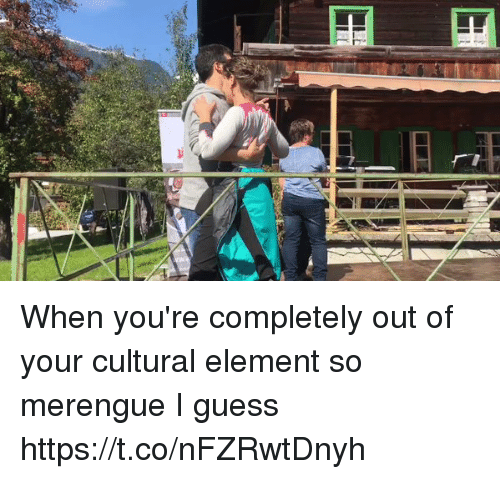 Memes, Guess, and 🤖: When you're completely out of your cultural element so merengue I guess https://t.co/nFZRwtDnyh