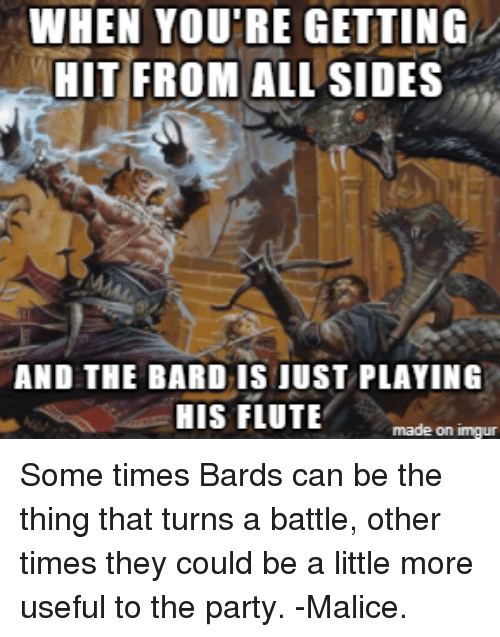 when youre getting hit from all sides and the bard 25070650 🔥 25 best memes about bard and party bard and party memes