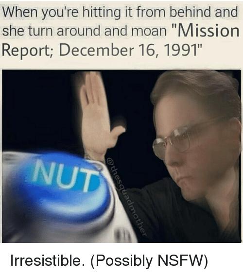 "Marvel Comics, Nsfw, and Possibilities: When you're hitting it from behind and  she turn around and moan ""Mission  Report: December 16, 1991"" Irresistible. (Possibly NSFW)"