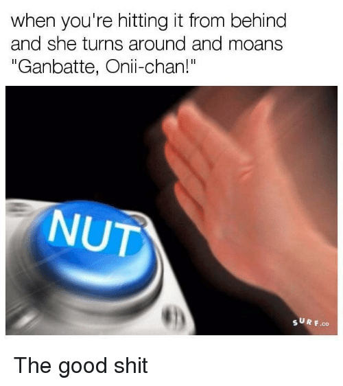 """Chanli: when you're hitting it from behind  and she turns around and moans  """"Ganbatte, Onii-chan!""""  NUT  SUR F.co The good shit"""