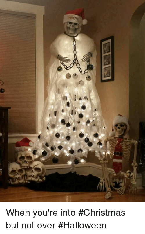 Christmas, Halloween, and Humans of Tumblr: When you're into #Christmas but not over #Halloween