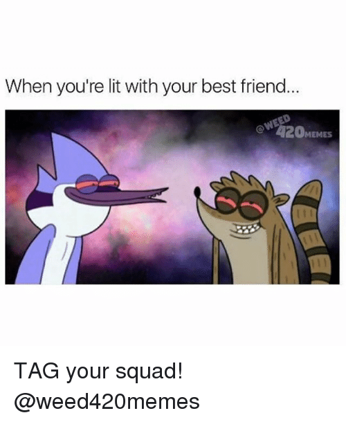 Best Friend, Lit, and Memes: When you're lit with your best friend.  MEMES TAG your squad! @weed420memes