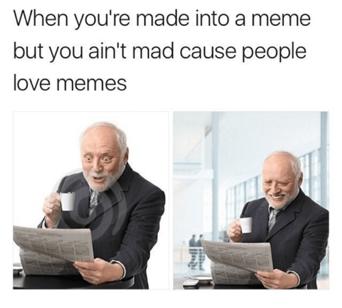 Love Memes: When you're made into a meme  but you ain't mad cause people  love memes