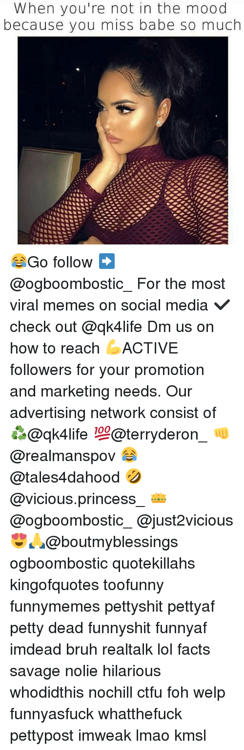 Bruh, Ctfu, and Facts: When you're not in the mood  because you miss babe so much 😂Go follow ➡@ogboombostic_ For the most viral memes on social media ✔check out @qk4life Dm us on how to reach 💪ACTIVE followers for your promotion and marketing needs. Our advertising network consist of ♻@qk4life 💯@terryderon_ 👊@realmanspov 😂@tales4dahood 🤣@vicious.princess_ 👑@ogboombostic_ @just2vicious😍🙏@boutmyblessings ogboombostic quotekillahs kingofquotes toofunny funnymemes pettyshit pettyaf petty dead funnyshit funnyaf imdead bruh realtalk lol facts savage nolie hilarious whodidthis nochill ctfu foh welp funnyasfuck whatthefuck pettypost imweak lmao kmsl