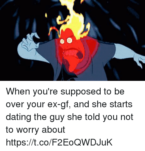 dating guy not over ex You'd recognise that not being over your ex, in whatever guise it takes, means   i recently started dating a man whose wife died a year ago.