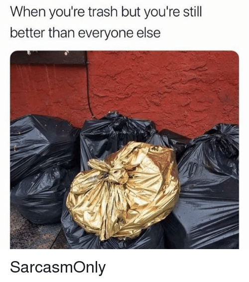 Youre Trash: When you're trash but you're stil  better than everyone else SarcasmOnly