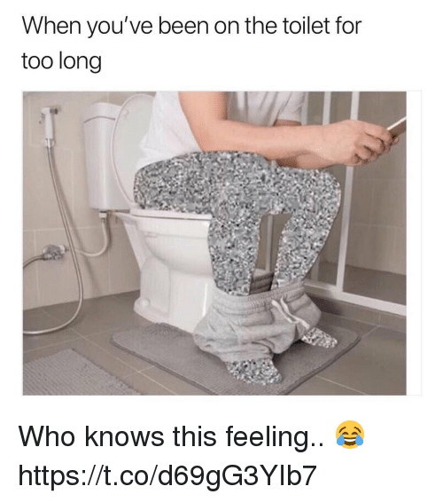 Been, Who, and For: When you've been on the toilet for  too long Who knows this feeling.. 😂 https://t.co/d69gG3YIb7