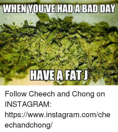 cheech and chong: WHEN YOUVEAHADABADIDAY  HAVE A FAT Follow Cheech and Chong on INSTAGRAM:  https://www.instagram.com/cheechandchong/