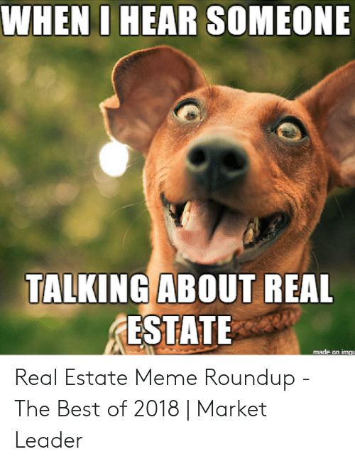 Meme Roundup: WHENI HEAR SOMEONE  TALKING ABOUT REAL  ESTATE  made on img Real Estate Meme Roundup - The Best of 2018 | Market Leader