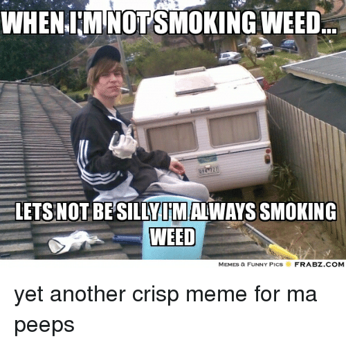 Weed Memes: WHENIM NOTSMOKING WEED...  LETS NOT BESILLY IM ALWAYS SMOKING  WEED  MEMES & FUNNY PICS  FRABZ.COM