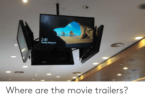 movie trailers: Where are the movie trailers?