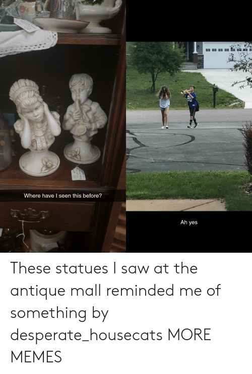 I Seen: Where have I seen this before?  Ah yes These statues I saw at the antique mall reminded me of something by desperate_housecats MORE MEMES