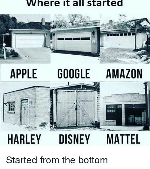Amazon, Apple, and Disney: Where it all started  APPLE GOOGLE AMAZON  HARLEY DISNEY MATTEL Started from the bottom