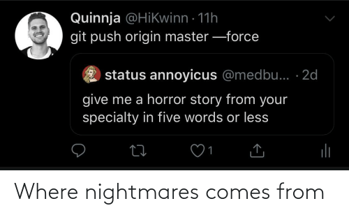 Comes: Where nightmares comes from