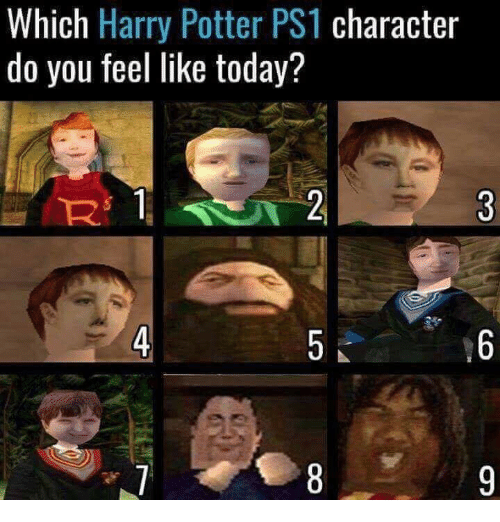 ps1: Which Harry Potter PS1 character  do you feel like today?  4