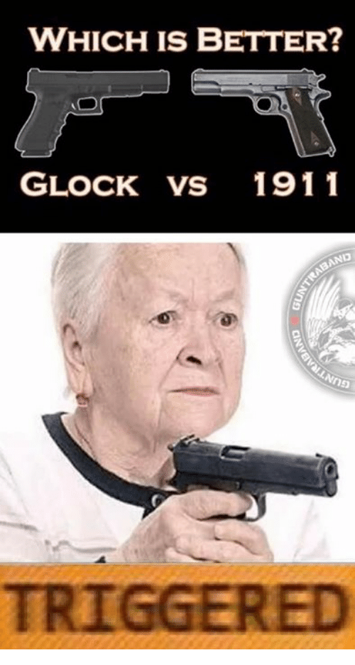 Glock Vs 1911: WHICH IS BETTER?  GLOCK VS 1911  TRIGGERED