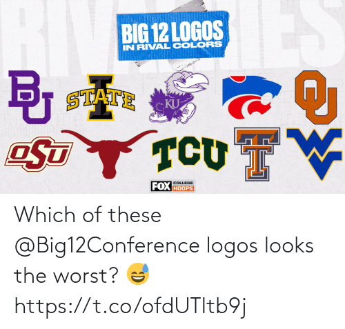 Logos: Which of these @Big12Conference logos looks the worst? 😅 https://t.co/ofdUTItb9j