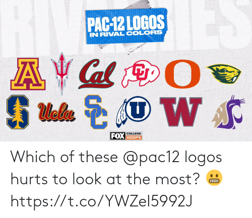 Logos: Which of these @pac12 logos hurts to look at the most? 😬 https://t.co/YWZeI5992J