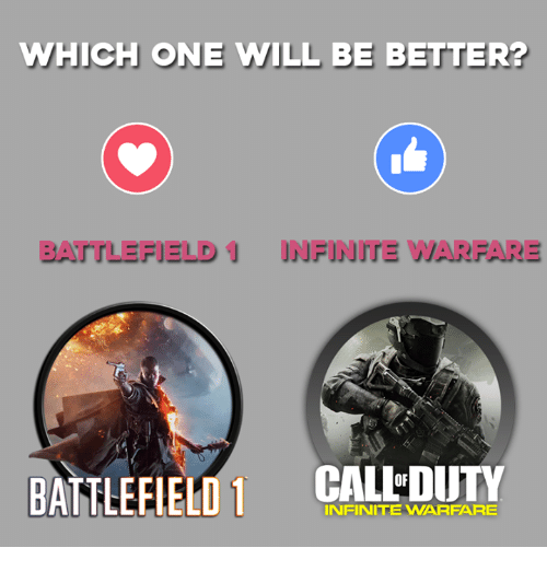 Battlefield: WHICH ONE WILL BE BETTER?  BATTLEFIELD INFINITE WARFARE  BATTLEFIELD 1 CALED  INFINITE WARFARE