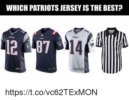 Memes, Patriotic, and Best: WHICH PATRIOTS JERSEY IS THE BEST?  PATRAPTS  14 https://t.co/vc62TExMON