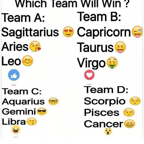 which team will win team b team a sagittarius capricorn 3510169 which team will win team b team a sagittarius capricorn aries