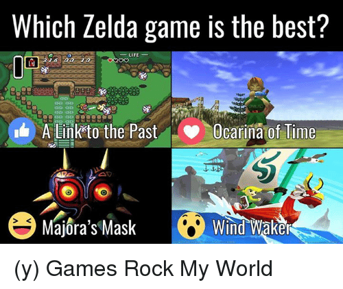 zelda game: Which Zelda game is the best?  LIFE  LJ  A Link to the Past  Ocarina of Time  Majora's Mask Wind Waker (y) Games Rock My World