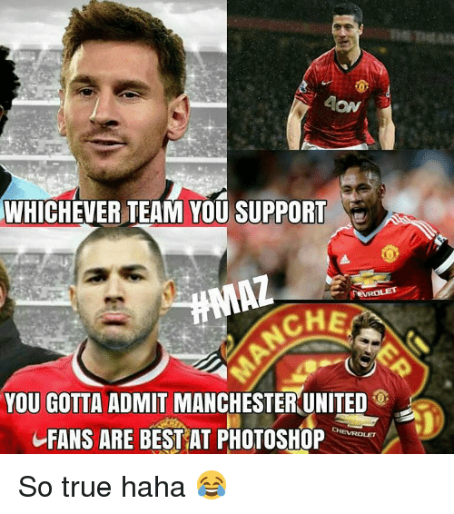 Manchester United Funny Meme : Whichever team you support che gotta admit manchester