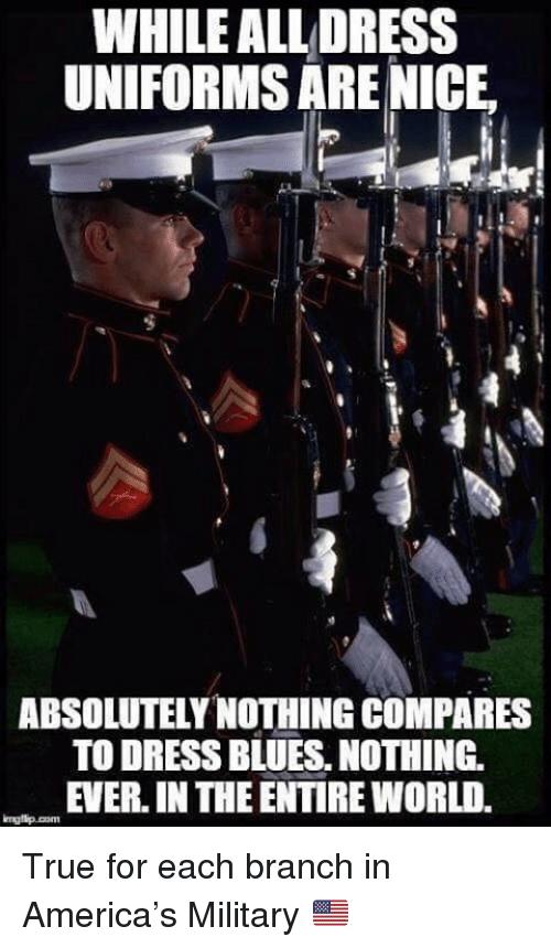 dress blues: WHILE ALL DRESS  UNIFORMS ARE NICE  ABSOLUTELY NOTHING COMPARES  TO DRESS BLUES, NOTHING  EVER. IN THE ENTIRE WORLD. True for each branch in America's Military 🇺🇸